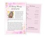 Coral Funeral Flyer Half Sheets Template