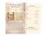Crossing Funeral Flyer Half Sheets Template front