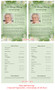 Garden Funeral Flyer Half Sheets Template inside view