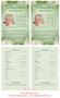 Garden Funeral Flyer Half Sheets Template inside view