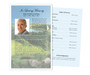 Golfer Funeral Flyer Half Sheets Template