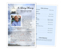 Lighthouse Funeral Flyer Half Sheets Template