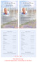 Seascape Funeral Flyer Half Sheets Template inside view