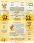Saffron Gatefold Program Template inside view
