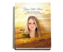 Shine Perfect Bind Memorial Guest Registry Book 8x10 with photo