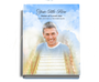 Stairway Perfect Bind Memorial Guest Registry Book 8x10 with photo