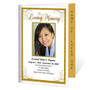 Affinity Letter 4-Sided Graduated Funeral Program Template