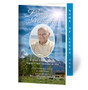 Outdoor Letter 4-Sided Graduated Funeral Program Template