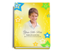 Starry Perfect Bind Funeral Guest Book Sign-In 8x10 with photo