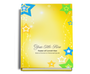 Starry Perfect Bind Funeral Guest Book Sign-In 8x10