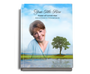 Treasure Perfect Bind Funeral Guest Sign-In Book 8x10 with photo
