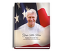 US Flag Perfect Bind 8x10 Memorial Funeral Sign In Book with photo