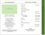 Garden 8-Sided Graduated Funeral Program Template page 2