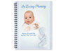 Angelico Spiral Wire Bind Memorial Guest Book with photo