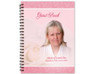 Bella Spiral Wire Bind Memorial Guest Book with photo