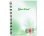 Blossom Spiral Wire Bind Memorial Guest Book