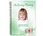 Blossom Spiral Wire Bind Memorial Guest Book with photo