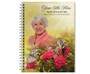 Bouquet Spiral Wire Bind Memorial Guest Book with photo