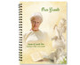 Cherub Spiral Wire Bind Memorial Guest Book with photo