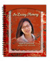 Dynasty Spiral Wire Bind Memorial Guest Book Registry with photo