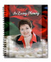 Elegance Spiral Wire Bind Memorial Guest Book Registry with photo
