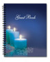 Enlighten Spiral Wire Bind Memorial Guest Book Registry