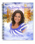 Pathway Spiral Wire Bind Memorial Guest Book Registry with photo