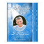 Heaven 8-Sided Graduated Funeral Program Template