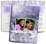 Lilac DIY Large Tabloid Funeral Booklet Template