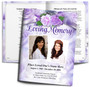 Rapture DIY Large Tabloid Funeral Booklet Template