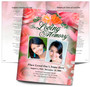 Rosy DIY Large Tabloid Funeral Booklet Template