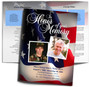 US Flag DIY Large Tabloid Funeral Booklet Template
