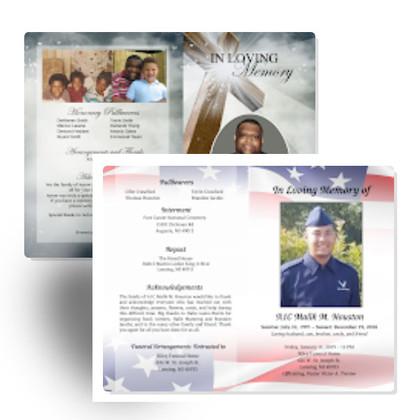 Custom Funeral Program Inspiration Library
