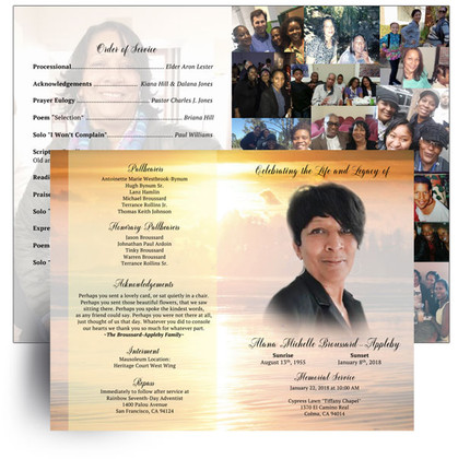 Custom Made Funeral Programs