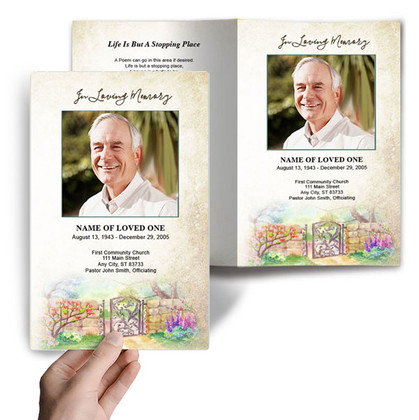 DIY Funeral Programs  Select. Download. Edit. Print.