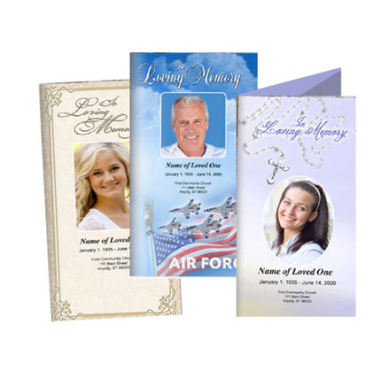 Digital Downloadable Funeral Program Templates