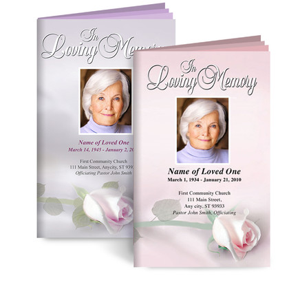 Funeral or Memorial Booklet Template