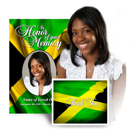 Jamaica Funeral Program Template