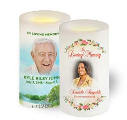 Personalized Photo Memorial Candles