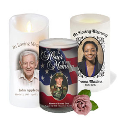 Memorial Candles With Picture