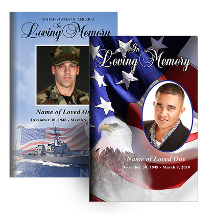 Memorial Folders Military Patriotic Theme Designs