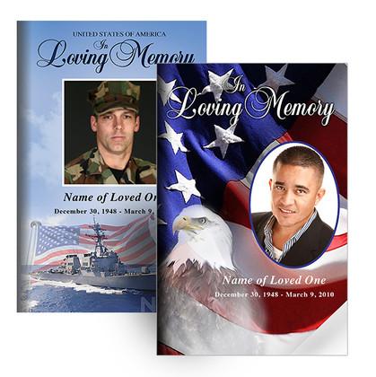 Memorial Folders Military Patriotic Theme Designs