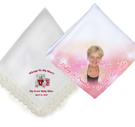 Colorful Memorial Handkerchiefs In Loving Memory