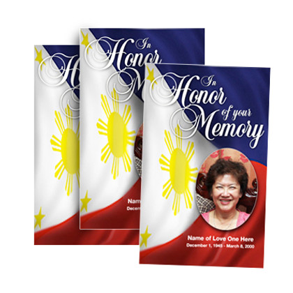 Philippines Funeral Programs