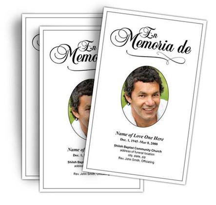 Spanish Funeral Programs (Programas Funerarios Españoles)