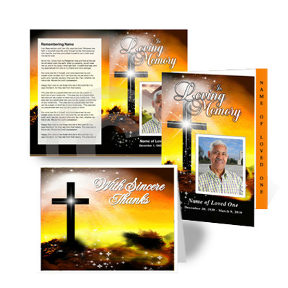 Christian Funeral Program Template Design - Splendor