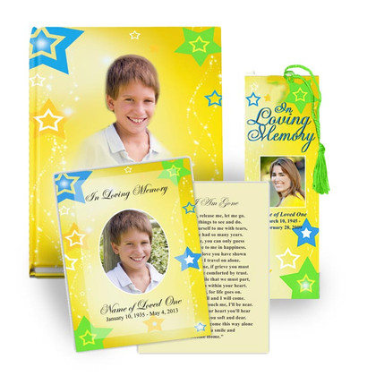 Starry Funeral Programs Design