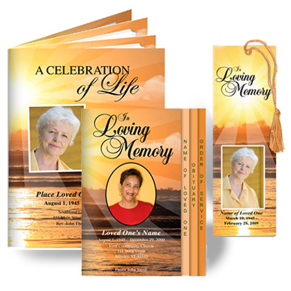 Sunrise Funeral Program Design