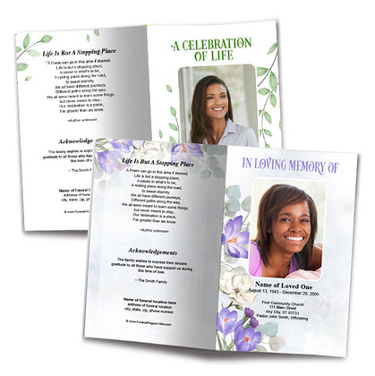 The Funeral Program Site DIY Templates