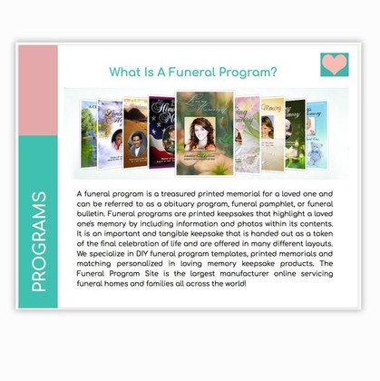The Funeral Program Site Products and Services